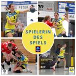 Spielerin des Spiels beim Heimspielerfolg gegen den TSV Wolfschlugen ist Nadja Greinert! Gesponsert von ALDI