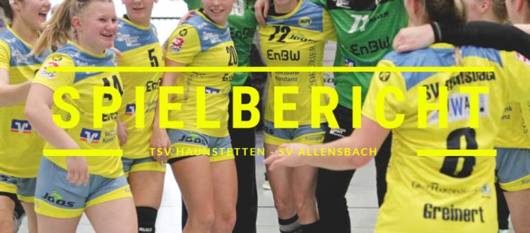 Spielbericht: TSV Haunstetten vs. SV Allensbach (Endstand: 23:25)