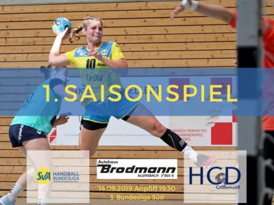 1. Saisonspiel: SV Allensbach vs. HCD Gröbenzell