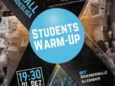 """""""Students Warm-up"""" beim nächsten Heimspieltag"""
