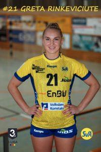 Greta Rinkeviciute Linksaußen beim SV Allensbach