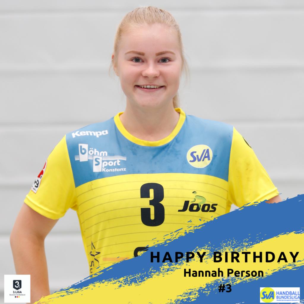 Hannah Person feiert Geburtstag
