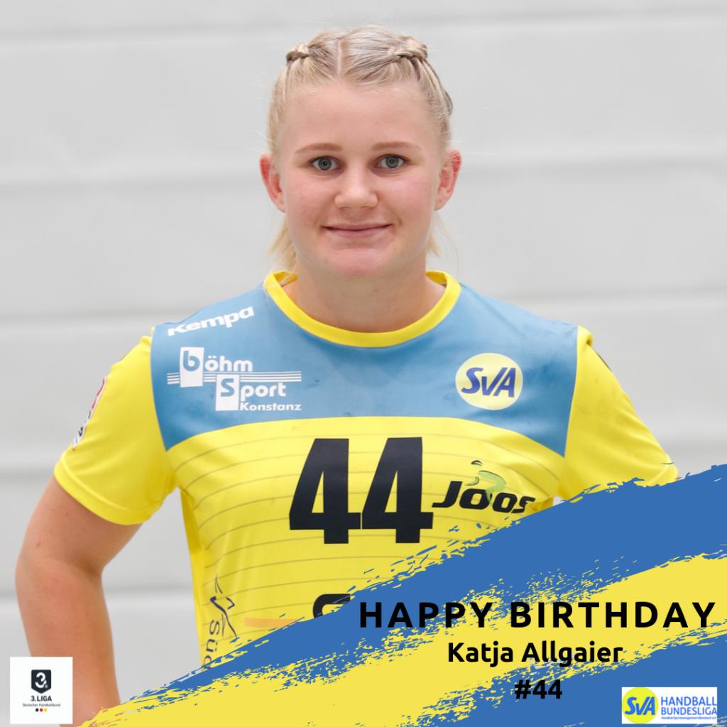 Katja Allgaier feiert Geburtstag