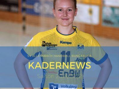 Kathatina Bok verlängert beim SV Allensbach Handball Bundesliga