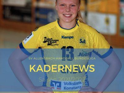 Kimberly Gisa verlängert beim SV Allensbach Handball Bundesliga