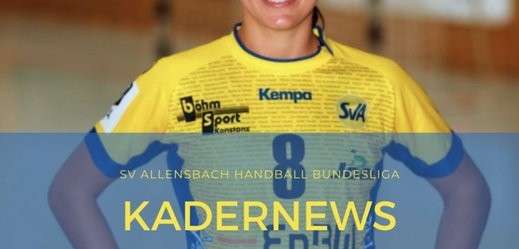 Nadja Greinert verlängert beim SV Allensbach Handball Bundesliga