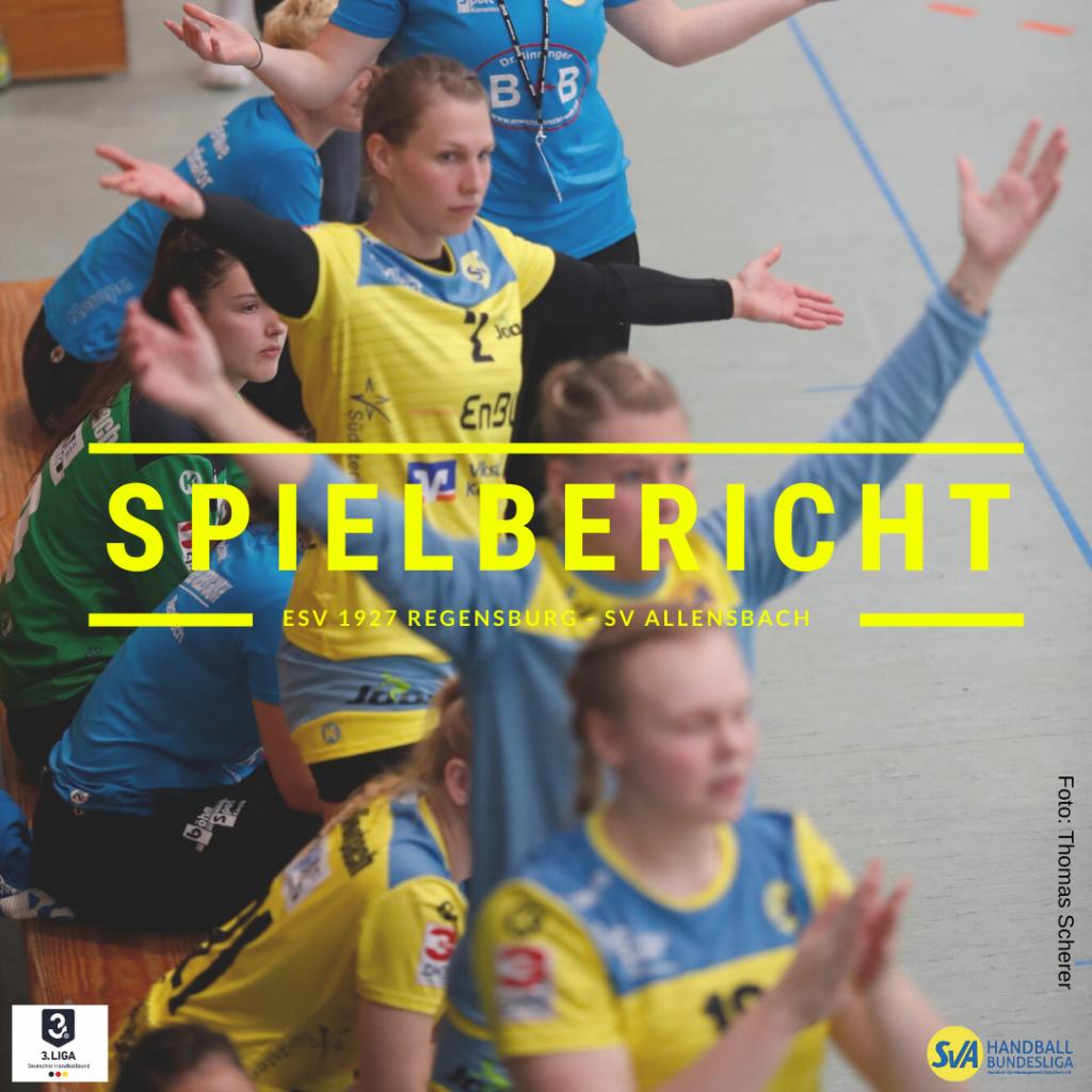 Spielbericht: ESV 1927 Regensburg vs. SV Allensbach (Endstand: 31:26)