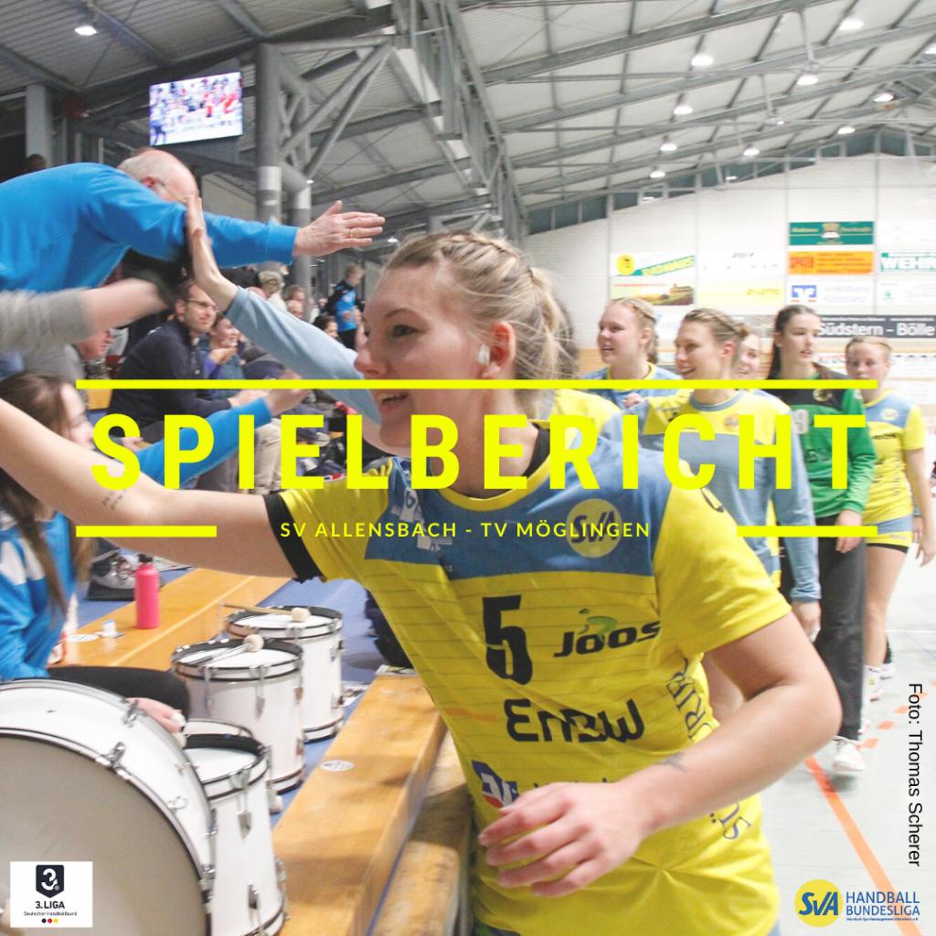 Spielbericht: SV Allensbach vs. TV Möglingen (Endstand: 36:31)