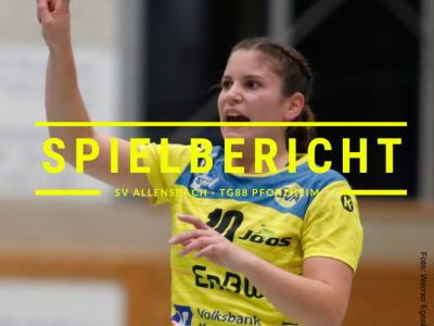 Spielbericht: SV Allensbach vs. TG88 Pforzheim (Endstand: 29:15)