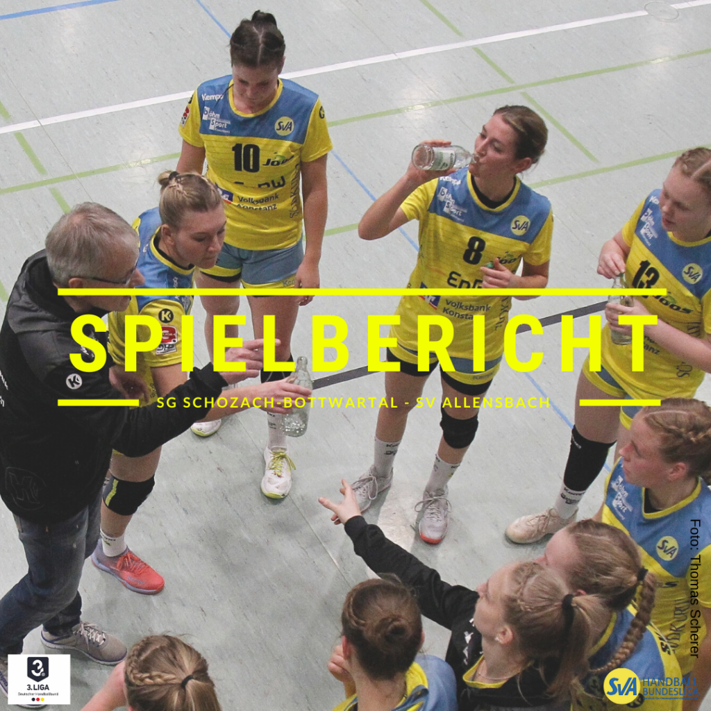Spielbericht: SG Schozach-Bottwartal - SV Allensbach (Endstand: 27:23)