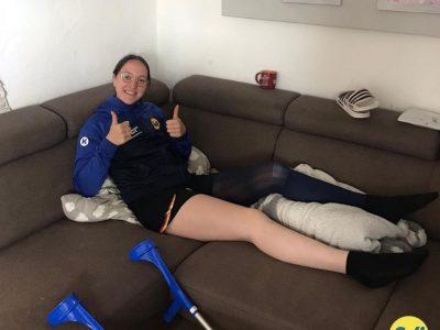 Leonie Kuntz wurde erfolgreich am Kreuzband operiert