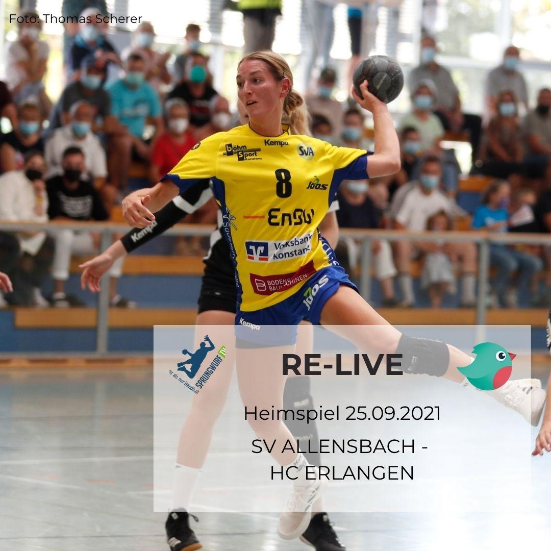 RE-LIVE SV Allensbach - HC Erlangen