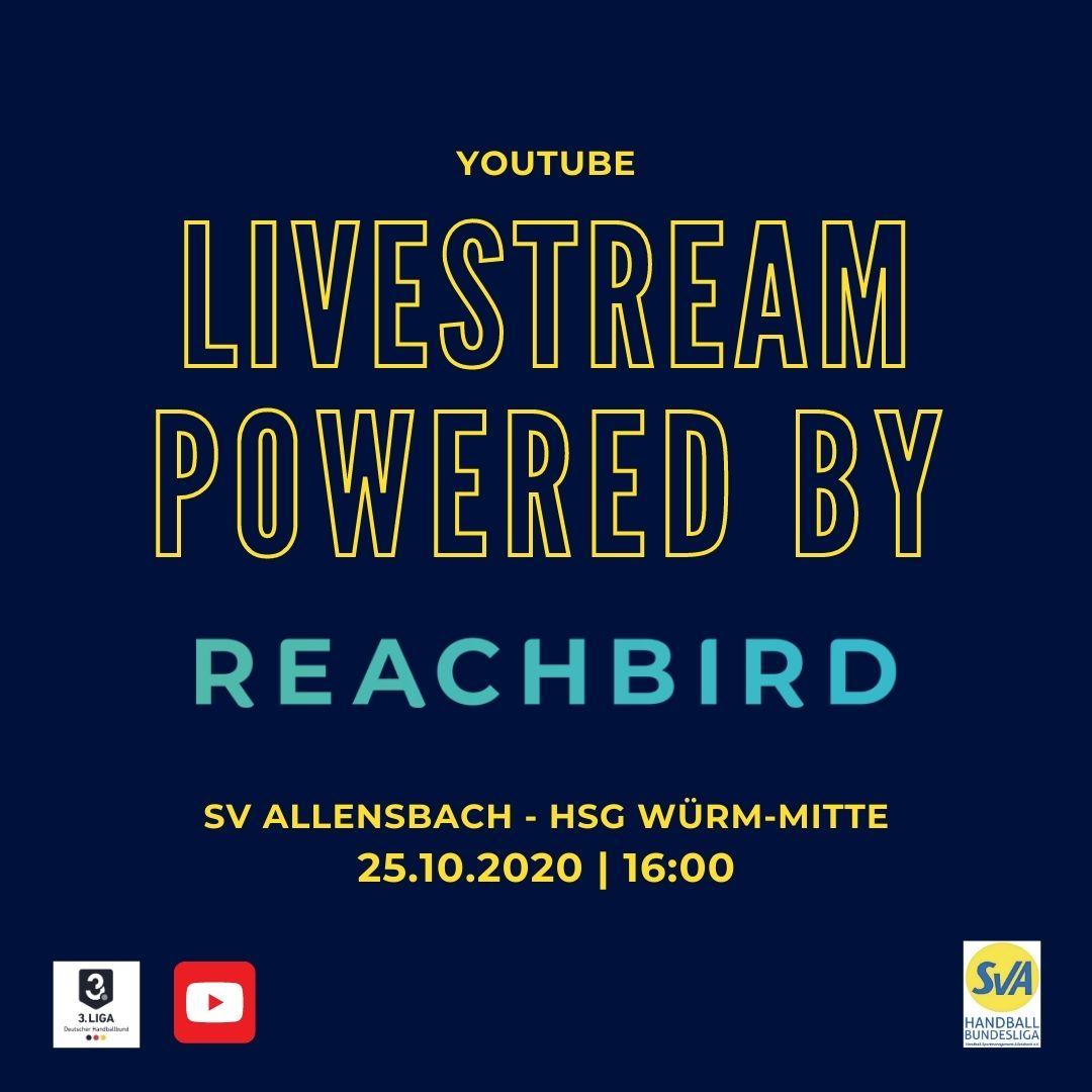 Livestream SV Allensbach - HSG Würm-Mitte |Reachbird