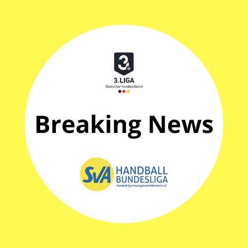 Breaking News Kaderplanung für die Saison 2020/2021 des SV Allensbach Handball Bundesliga