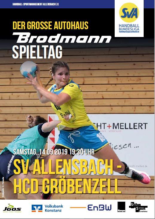 Hallenheft Anwurf SV Allensbach - HCD Gröbenzell