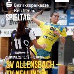 Hallenheft Anwurf SV Allensbach - TV Nellingen