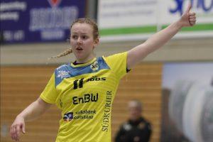 Katharina Bok beim Spiel SV Allensbach - TuS Metzingen II (Endstand: 35:29)