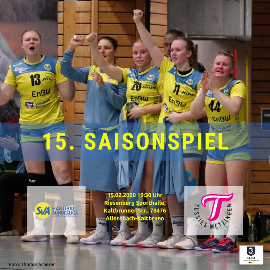 15. Saisonspiel: SV Allensbach vs. TuS Metzingen II