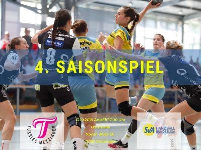 4. Saisonspiel: TuS Metzingen 2 vs. SV Allensbach