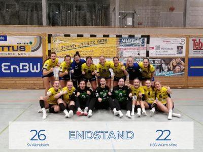 SV Allensbach gewinnt gegen die HSG Würm-Mitte 26:22
