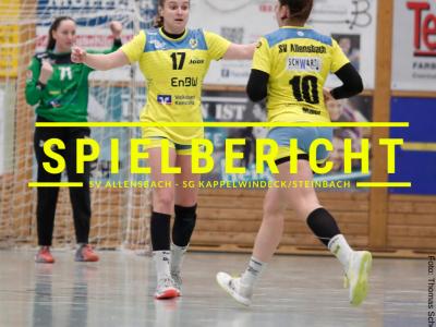 Spielbericht: SV Allensbach - SG Kappelwindeck/Steinbach (Endstand: 26:26)