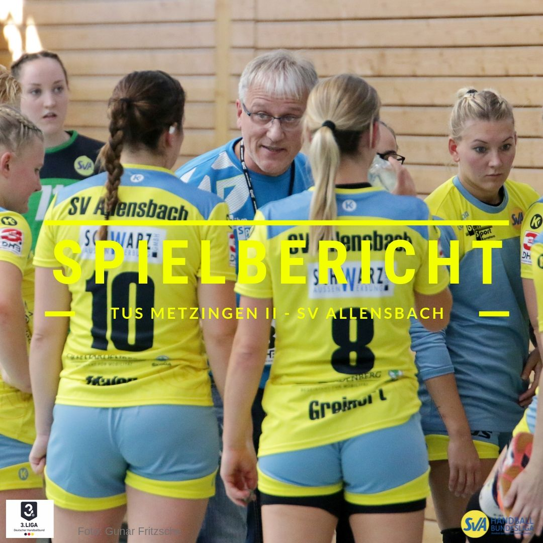 Spielbericht Tus Metzingen 2 gegen den SV Allensbach