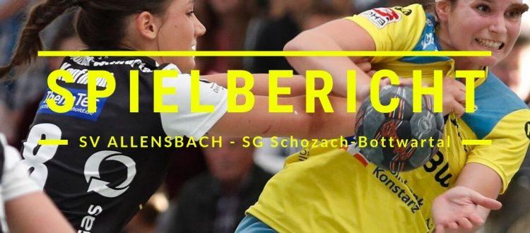 Spielbericht SV Allensbach - SG Schozach-Bottwartal