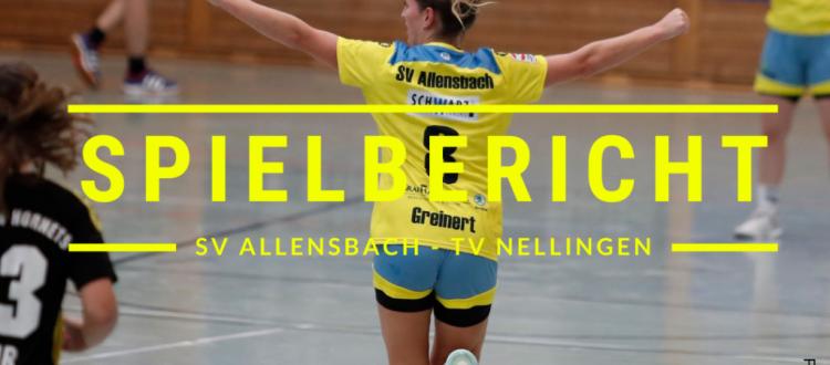 Spielbericht SV Allensbach - TV Nellingen (Endstand: 29:27)