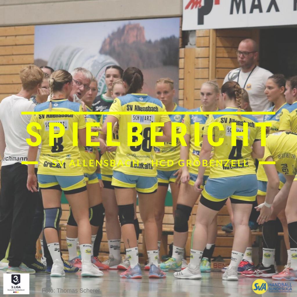 Spielbericht SV Allensbach - HCD Gröbenzell
