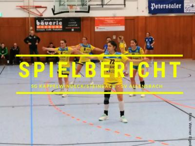Spielbericht SG Kappelwindeck/Steinbach - SV Allensbach (Endstand: 25:30)