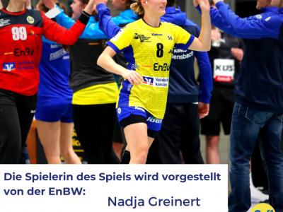 Mannschaftskapitän Nadja Greinert trag 15 mal gegen den TV Aldekerk