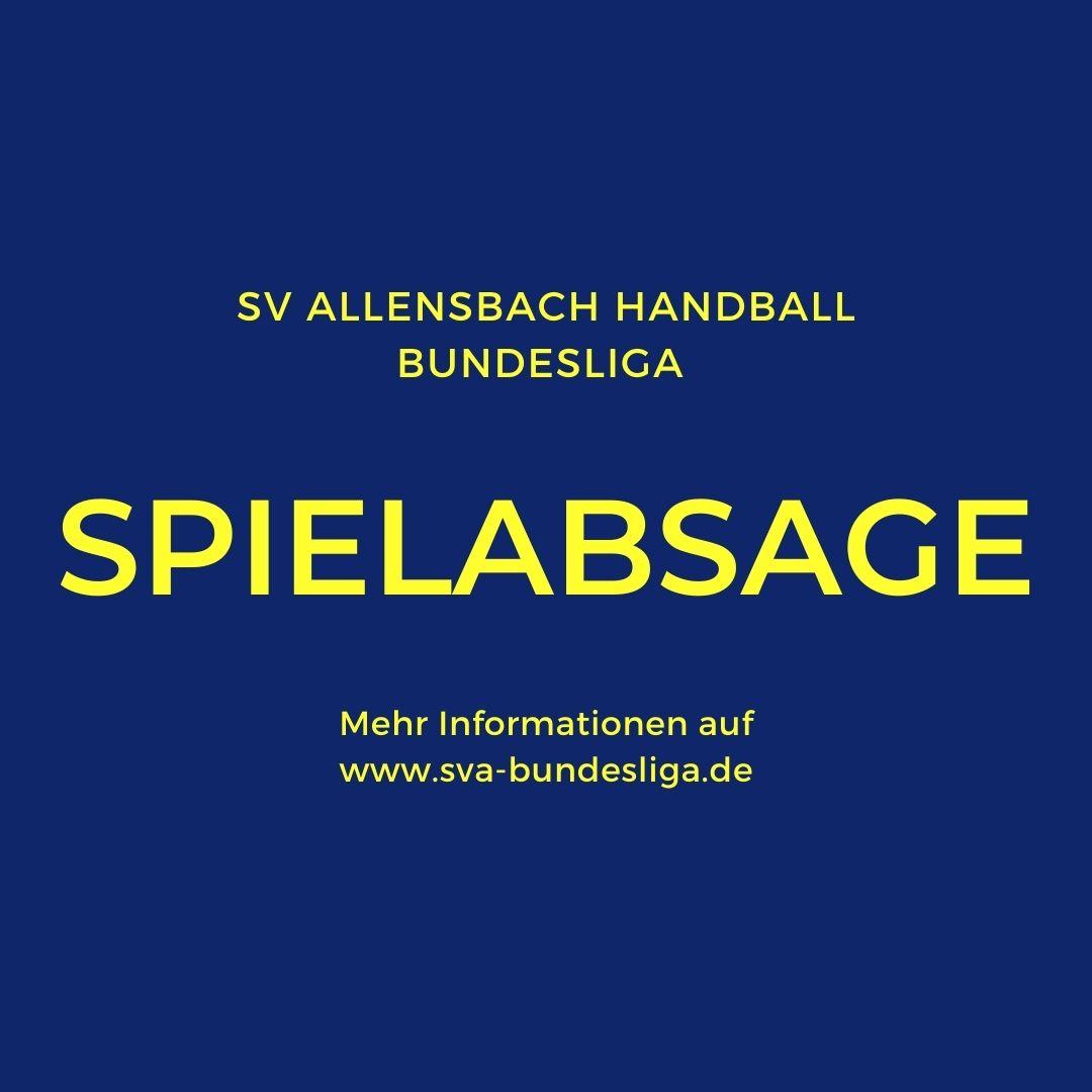 Spielabsage des SV Allensbach gegen FrischAufGöppingen