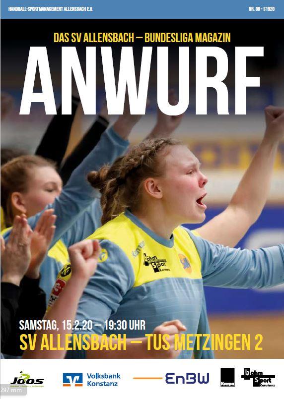 Hallenheft 15.02.2020 SV Allensbach - TuS Metzingen II